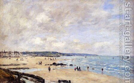 Beach at Trouville by Eugène Boudin - Reproduction Oil Painting