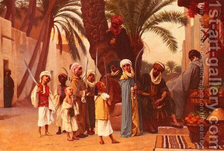 A Tale of 1001 Nights by Gustave Clarence Rodolphe Boulanger - Reproduction Oil Painting