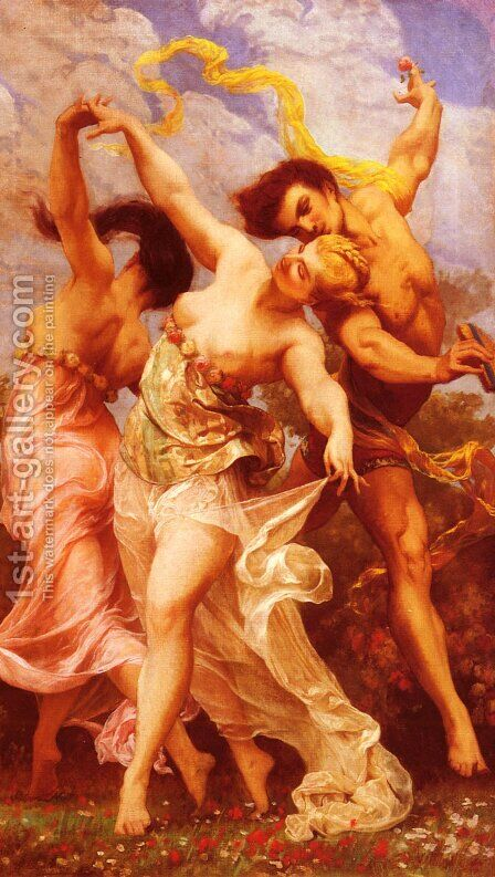 La Danse Amoureuse (The Amorous Dancers) by Gustave Clarence Rodolphe Boulanger - Reproduction Oil Painting
