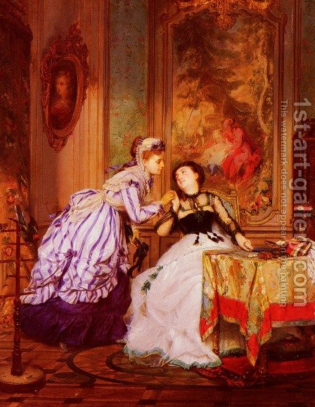A Warm Reception by Charles Edouard Boutibonne - Reproduction Oil Painting
