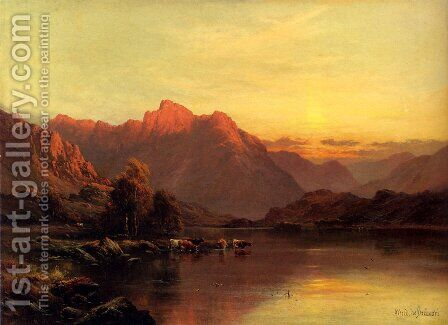 Buttermere, The Lake District by Alfred de Breanski - Reproduction Oil Painting