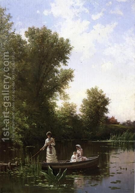 Boating in the Afternoon by Alfred Thompson Bricher - Reproduction Oil Painting