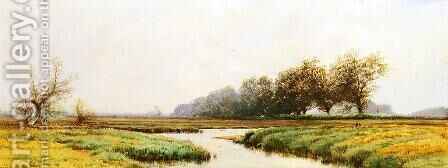 Newburyport Marshes by Alfred Thompson Bricher - Reproduction Oil Painting