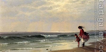 At the Shore by Alfred Thompson Bricher - Reproduction Oil Painting