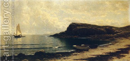 Along the Shore by Alfred Thompson Bricher - Reproduction Oil Painting