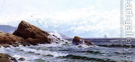 Crashing Waves by Alfred Thompson Bricher - Reproduction Oil Painting