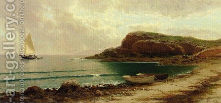 Seascape with Dories and Sailboats by Alfred Thompson Bricher - Reproduction Oil Painting
