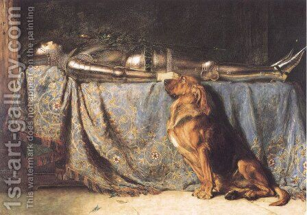 Requiescat by Briton Rivière - Reproduction Oil Painting
