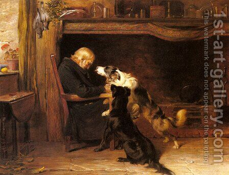 The Long Sleep by Briton Rivière - Reproduction Oil Painting