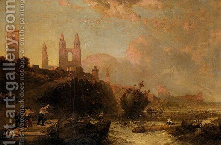 Ruins Of St. Andrews Cathedral And Church Of St. Regulus, Fife, Scotland by David Roberts - Reproduction Oil Painting