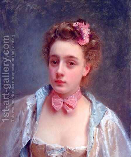 Dressed for the Ball by Gustave Jean Jacquet - Reproduction Oil Painting