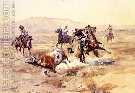 The Renegade by Charles Marion Russell - Reproduction Oil Painting