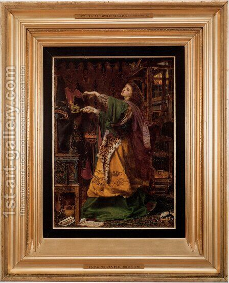Morgan le Fay by Anthony Frederick Sandys - Reproduction Oil Painting