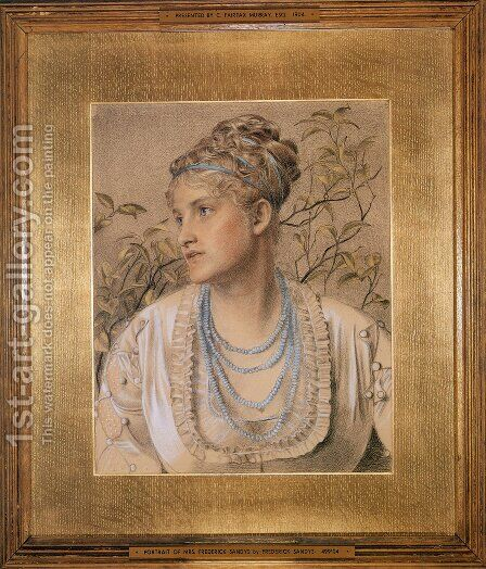 Mary Sandys by Anthony Frederick Sandys - Reproduction Oil Painting
