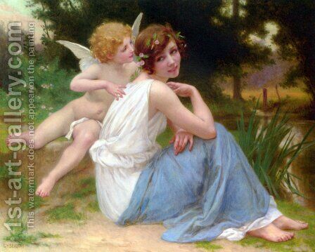 Cupid and Psyche by Guillaume Seignac - Reproduction Oil Painting