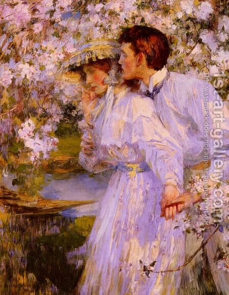 In The Springtime by James Jebusa Shannon - Reproduction Oil Painting