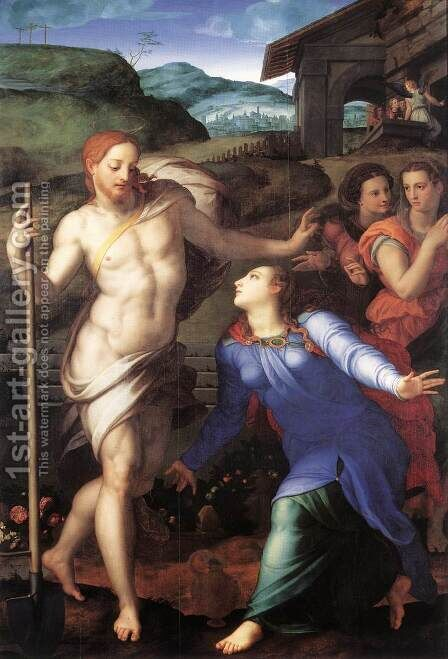 Noli me tangere (Touch Me Not) by Agnolo Bronzino - Reproduction Oil Painting