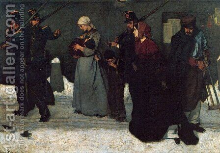 What is called Vagrancy by Alfred Stevens - Reproduction Oil Painting