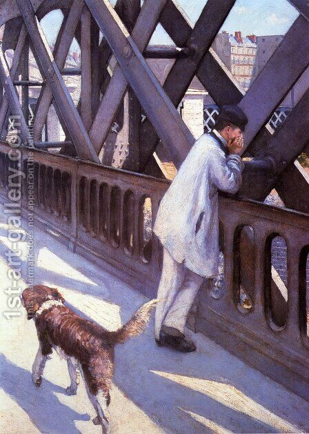 Le Pont De L'Europe (detail) by Gustave Caillebotte - Reproduction Oil Painting