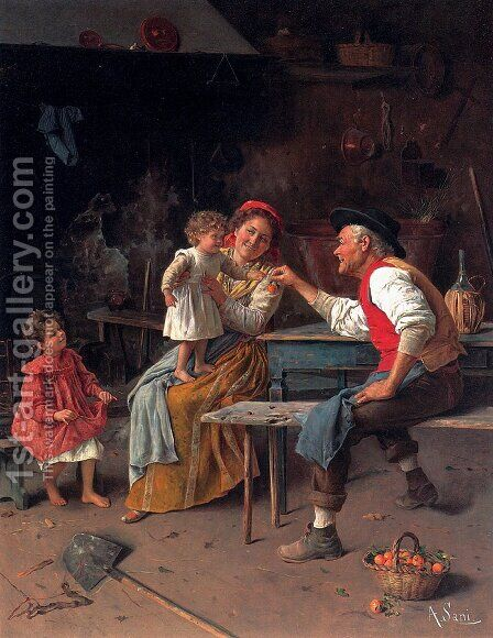 A Gift From Grandpa by Alessandro Sani - Reproduction Oil Painting