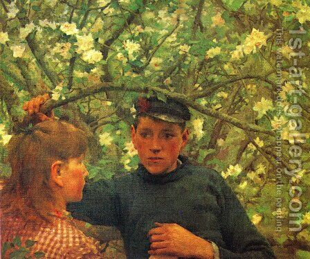 The Promise by Henry Scott Tuke - Reproduction Oil Painting