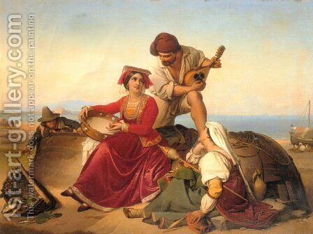 The Musicians by Jan Baptist Lodewyck Maes - Reproduction Oil Painting