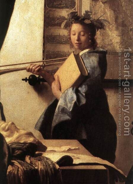 The Art of Painting [detail: 2] by Jan Vermeer Van Delft - Reproduction Oil Painting