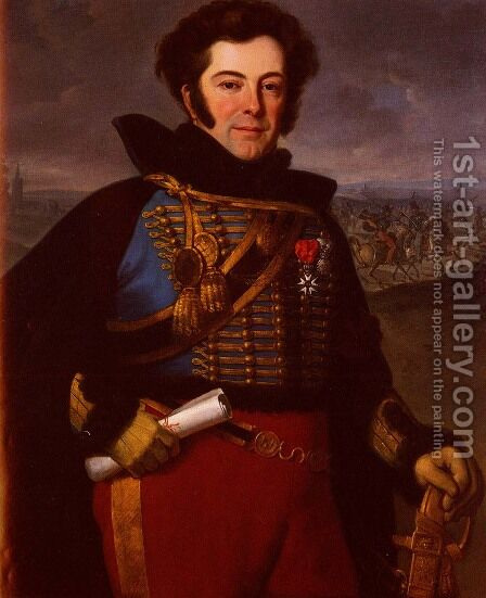 Portrait Of Lieutenant Colonel, Comte De Thalouet by Horace Vernet - Reproduction Oil Painting