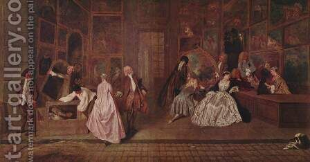 L'Enseigne de Gersaint (The Shopsign) by Jean-Antoine Watteau - Reproduction Oil Painting