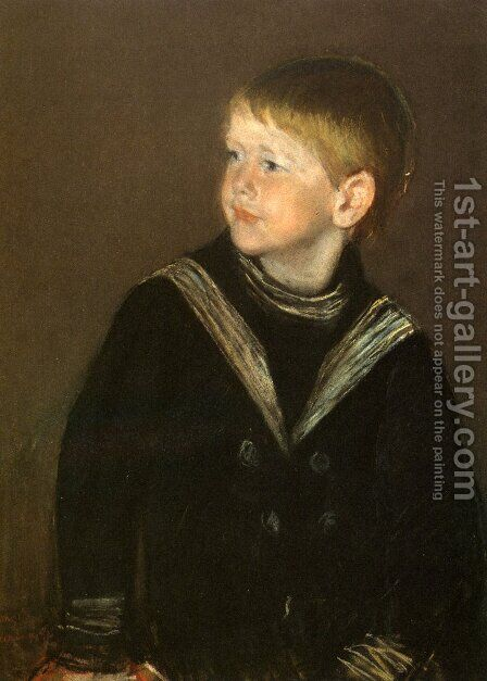 The Sailor Boy: Gardener Cassatt by Mary Cassatt - Reproduction Oil Painting
