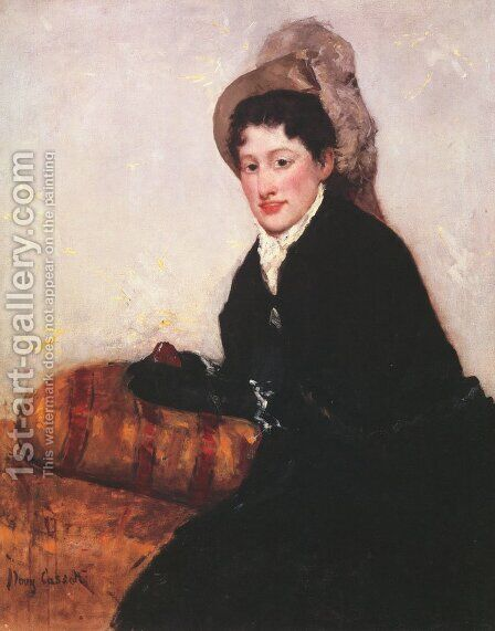 Portrait of a Woman Dressed for Matinee by Mary Cassatt - Reproduction Oil Painting