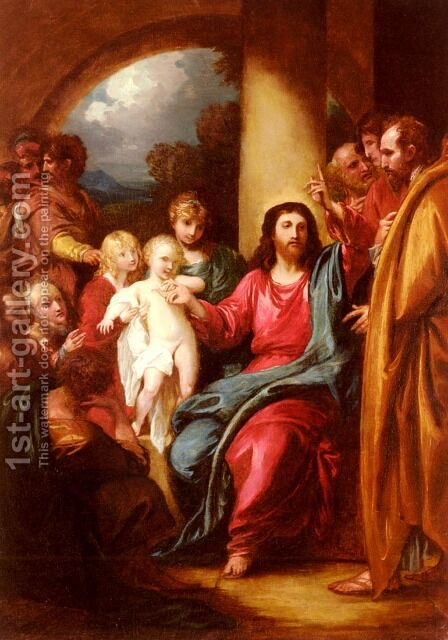 Christ Showing A Little Child As The Emblem Of Heaven by Benjamin West - Reproduction Oil Painting
