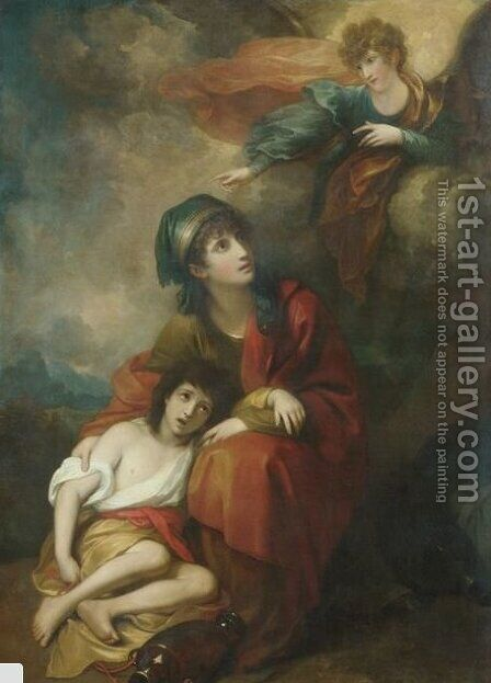 Hagar and Ishmael by Benjamin West - Reproduction Oil Painting