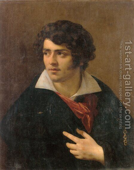 Portrait of a Young Man by Anne-Louis Girodet de Roucy-Triosson - Reproduction Oil Painting
