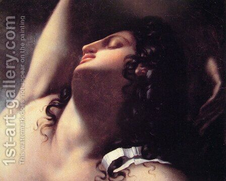 Study for the Sleep of Endyimon by Anne-Louis Girodet de Roucy-Triosson - Reproduction Oil Painting