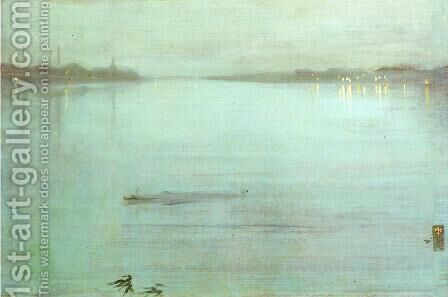 Nocturne- Blue and Silver by James Abbott McNeill Whistler - Reproduction Oil Painting