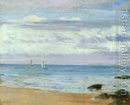Blue and Silver: Trouville by James Abbott McNeill Whistler - Reproduction Oil Painting