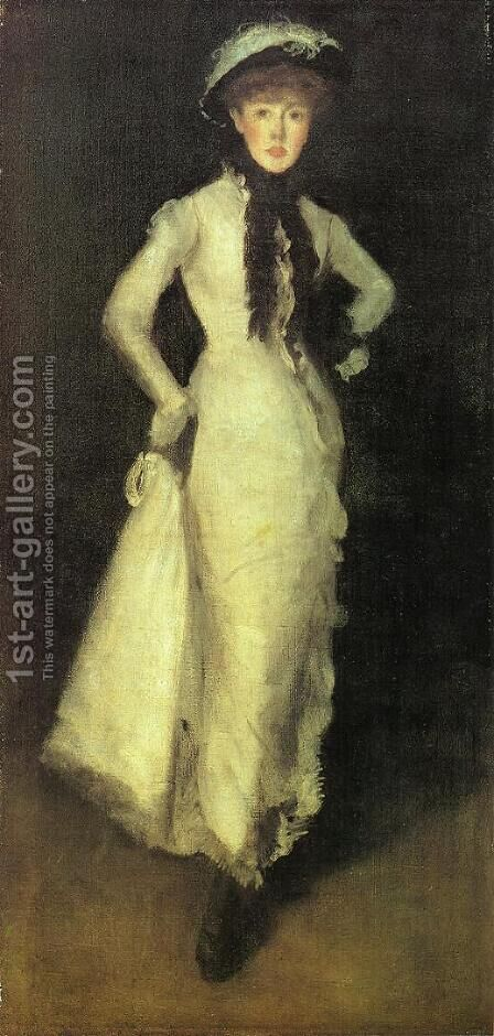 Arrangement in White and Black by James Abbott McNeill Whistler - Reproduction Oil Painting