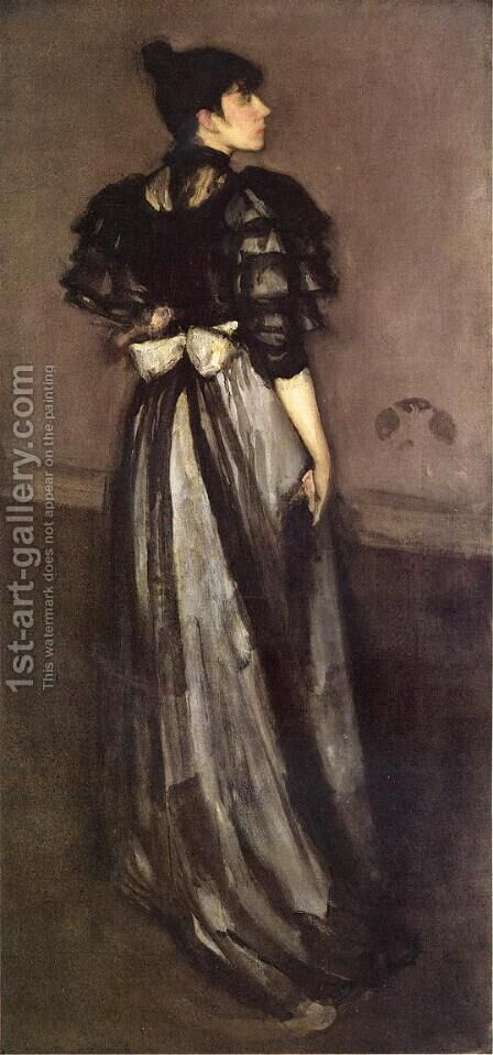Mother of Pearl and Silver: The Andalusian by James Abbott McNeill Whistler - Reproduction Oil Painting