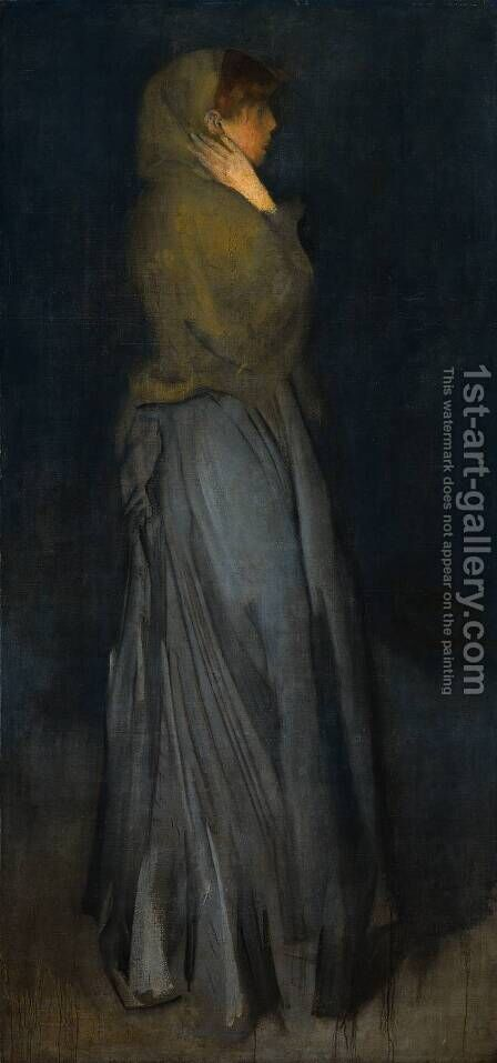 Arrangement in Yellow and Grey: Effie Deans by James Abbott McNeill Whistler - Reproduction Oil Painting