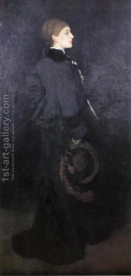 Arrangement in Brown and Black: Portrait of Miss Rosa Corder by James Abbott McNeill Whistler - Reproduction Oil Painting
