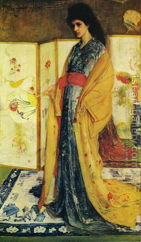 La Princesse duPays de la Porcelaine by James Abbott McNeill Whistler - Reproduction Oil Painting