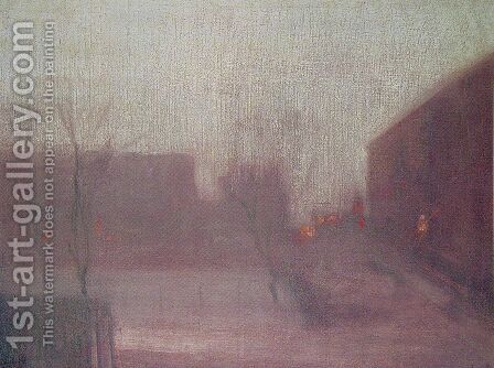 Nocturne: Trafalgar Square - Chelsea Snow by James Abbott McNeill Whistler - Reproduction Oil Painting