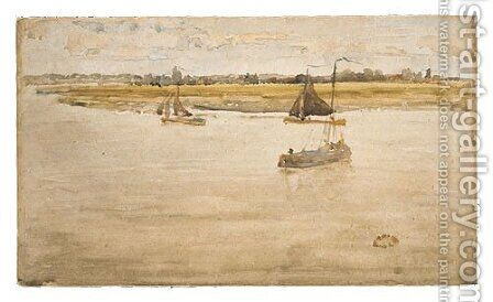 Gold and Brown: Dordrecht by James Abbott McNeill Whistler - Reproduction Oil Painting