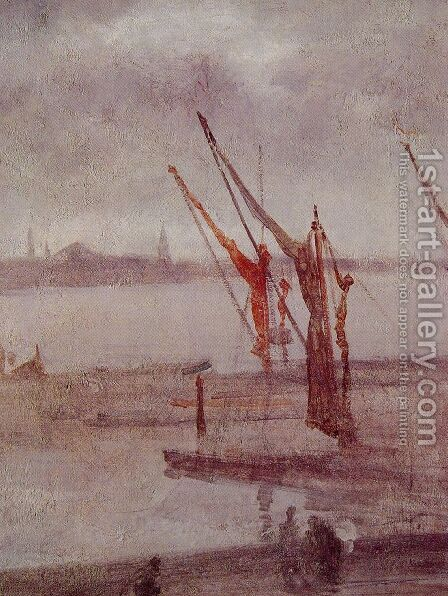 Chelsea Wharf: Grey and Silver by James Abbott McNeill Whistler - Reproduction Oil Painting