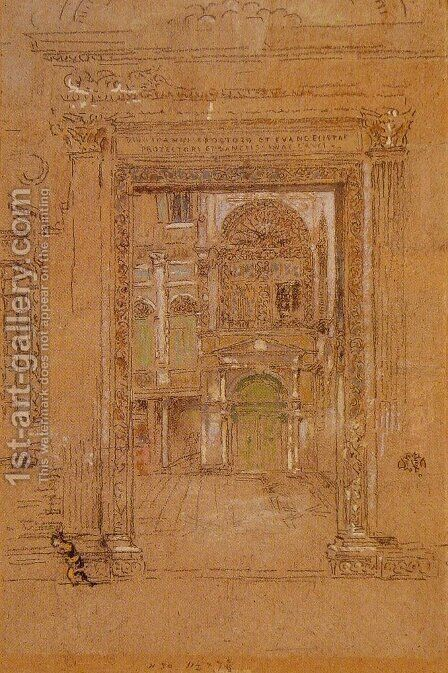 Ste Giovanni Apostolo et Evangelistae by James Abbott McNeill Whistler - Reproduction Oil Painting