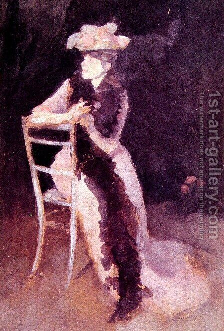 Rose and Silver: Portrait of Mrs Whibley by James Abbott McNeill Whistler - Reproduction Oil Painting