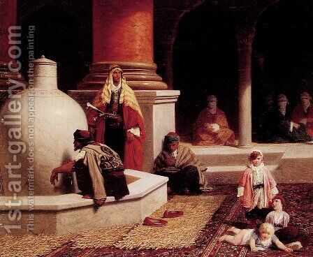 In the Harem by Adolphe Yvon - Reproduction Oil Painting