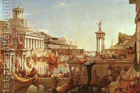 The Course of the Empire: The Consummation by Thomas Cole - Reproduction Oil Painting