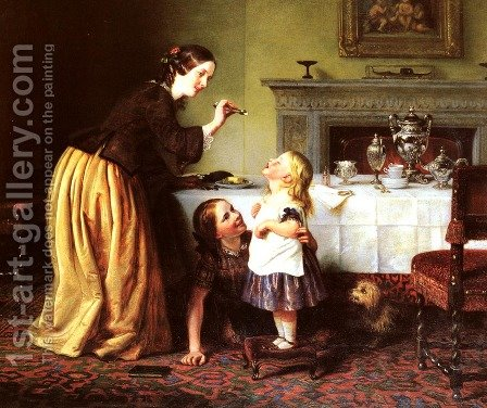 Breakfast Time - Morning Games by Charles West Cope - Reproduction Oil Painting